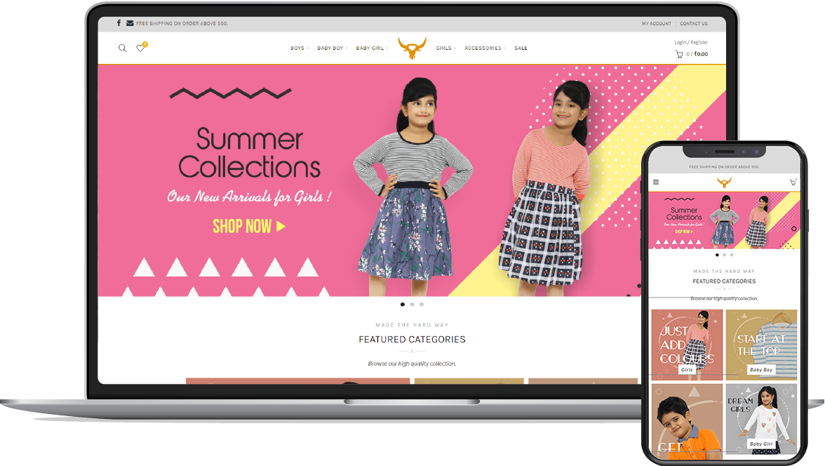 Ecommerce website development for Bivol Fashion