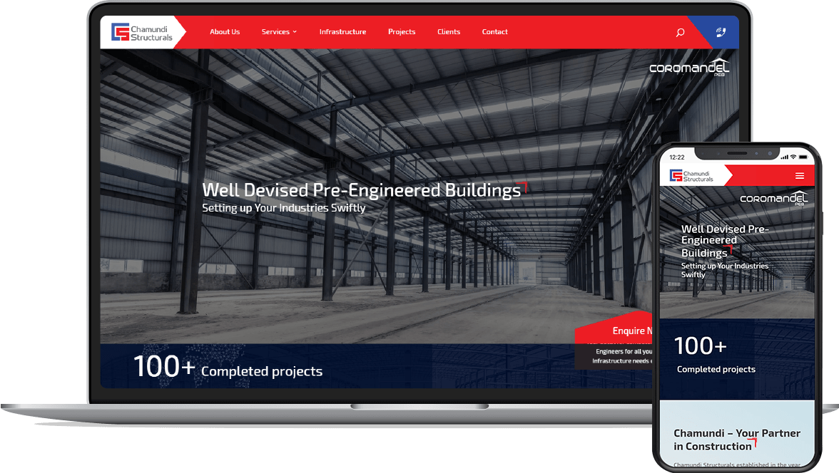 Web Design for Chamundi Structurals